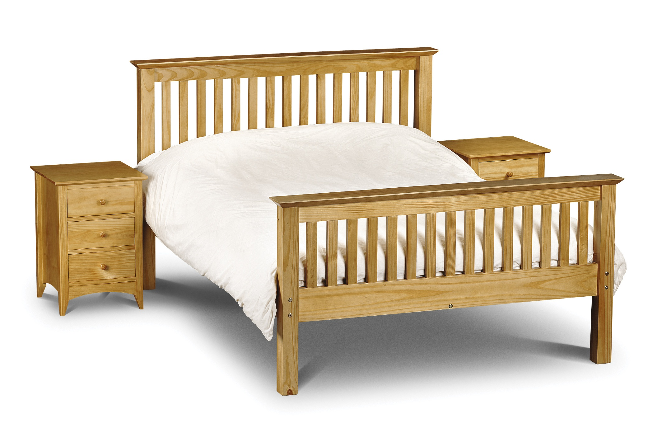 Julian Bowen Barcelona High Foot End Pine Bed Frame from £169